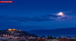 Blood Moon Supermoon Lunar Eclipse Over Macedonia