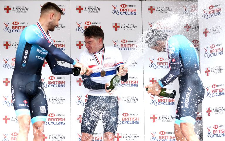 Ethan Hayter wins the 2021 British National Time Trial