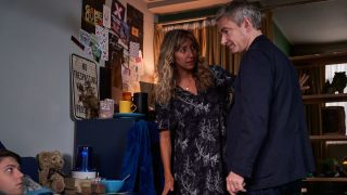 Alex Eastwood as Luke, Daisy Haggard as Ally, and Martin Freeman as Paul in FX's 'Breeders'