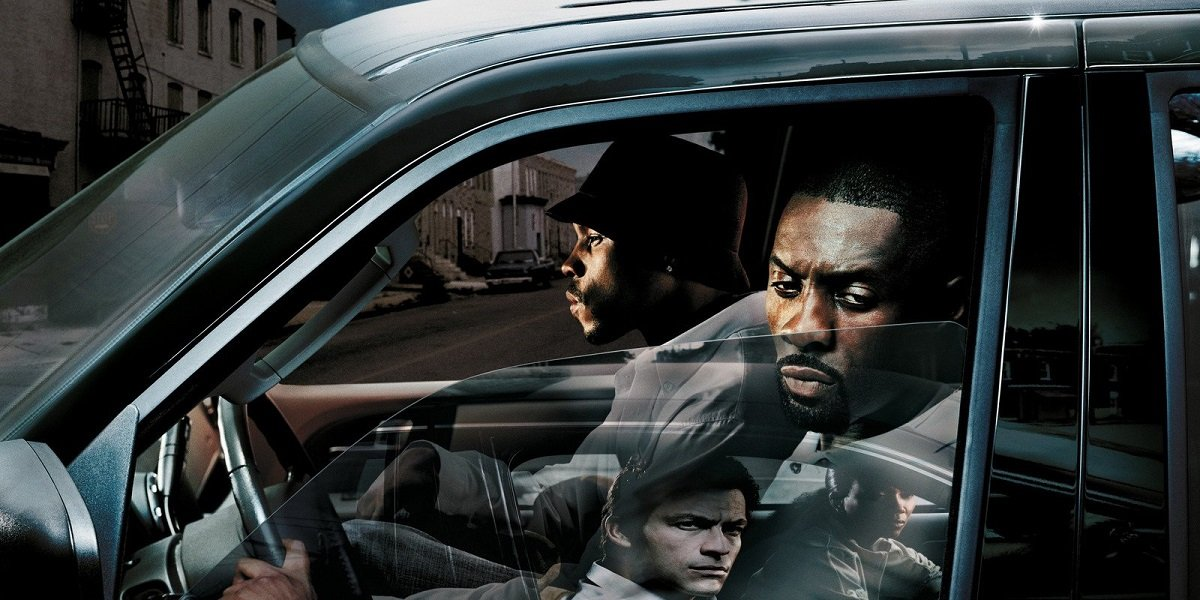 Idris Elba, Dominic West , and Sonja Sohn in The Wire