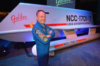 NASA Astronaut Mike Fincke with Galileo Shuttlecraft