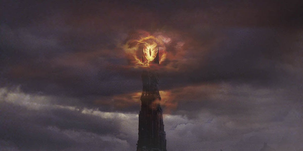 Sauron is watching you from one of the two towers