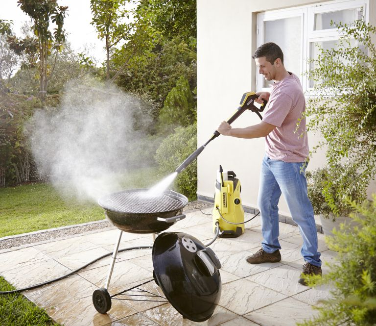 how to clean a bbq: Karcher pressure washer