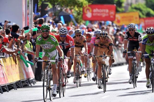 Mark Cavendish wins, Vuelta a Espana 2010, stage 13