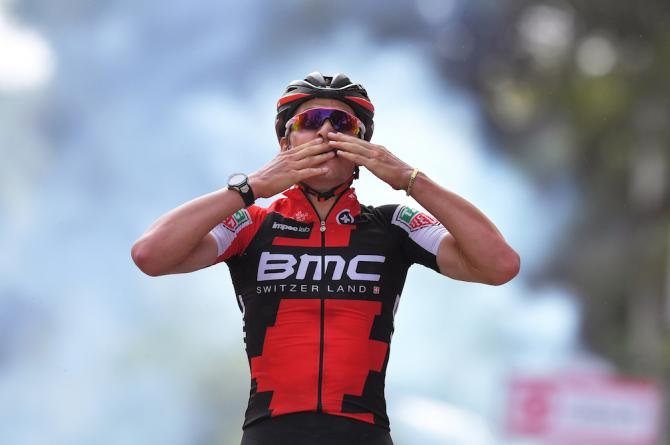 Silvan Dillier wins stage 6 of the Giro d'Italia.