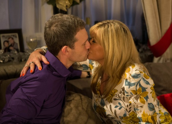 Erica and Nick had a festive fling (ITV)