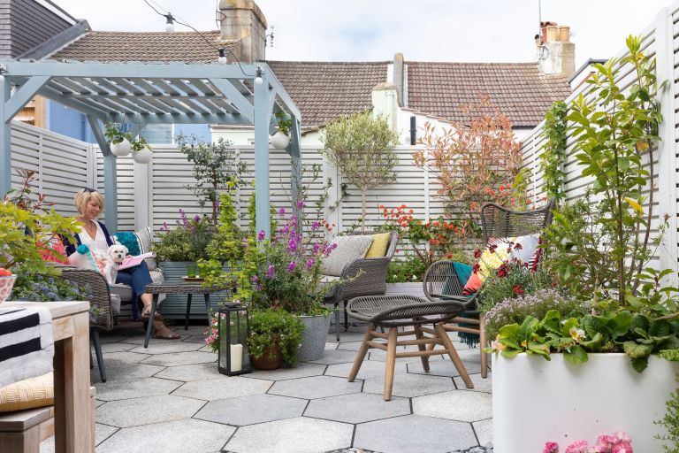 Maxine Brady transformed her small garden into a Moroccan-inspired haven