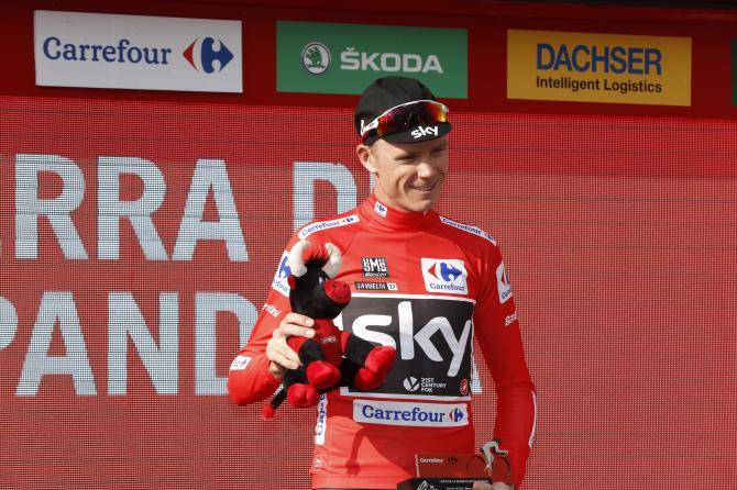 Chris Froome at the Vuelta a España