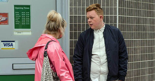 Beth Sutherland and Craig Tinkler in Coronation Street.