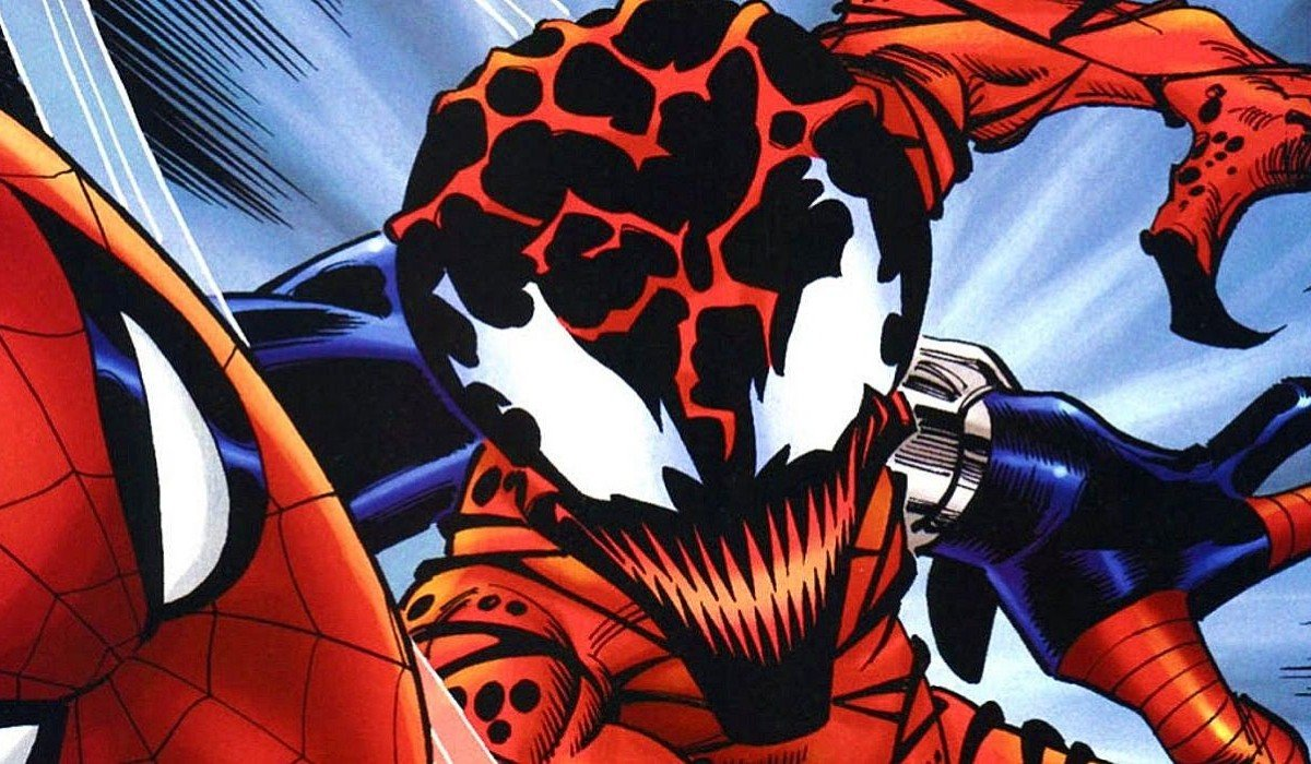 Baby Carnage attacking Marvel Comics
