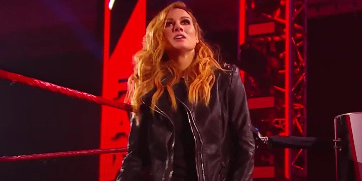 Becky Lynch on Monday Night Raw WWE