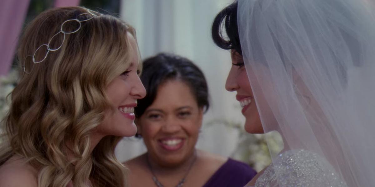 Arizona and Callie's wedding