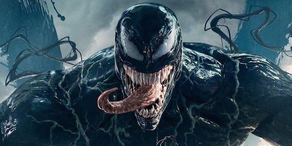 Venom snarling long tongue movie 2018