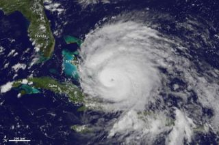 Hurricane Irene as it appeared by satellite Aug. 24 over the Bahamas. Credit: NOAA/NASA