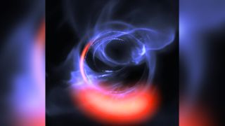 The European Southern Observatory's GRAVITY instrument revealed clumps of gas swirling around just outside the supermassive black hole at the center of our galaxy. Here, a visualization of that orbiting gas.