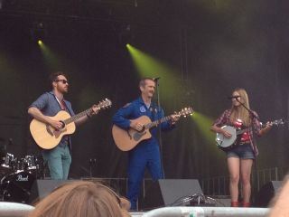 Chris Hadfield Performs with Trent Severn Folk Trio