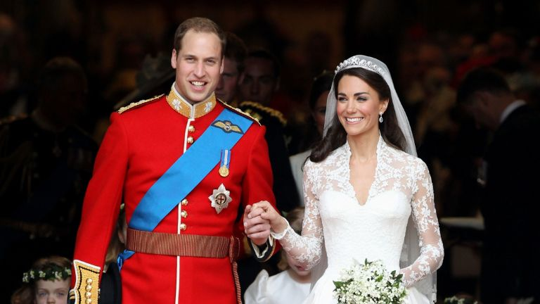 William and Kate's on their wedding day in 2011