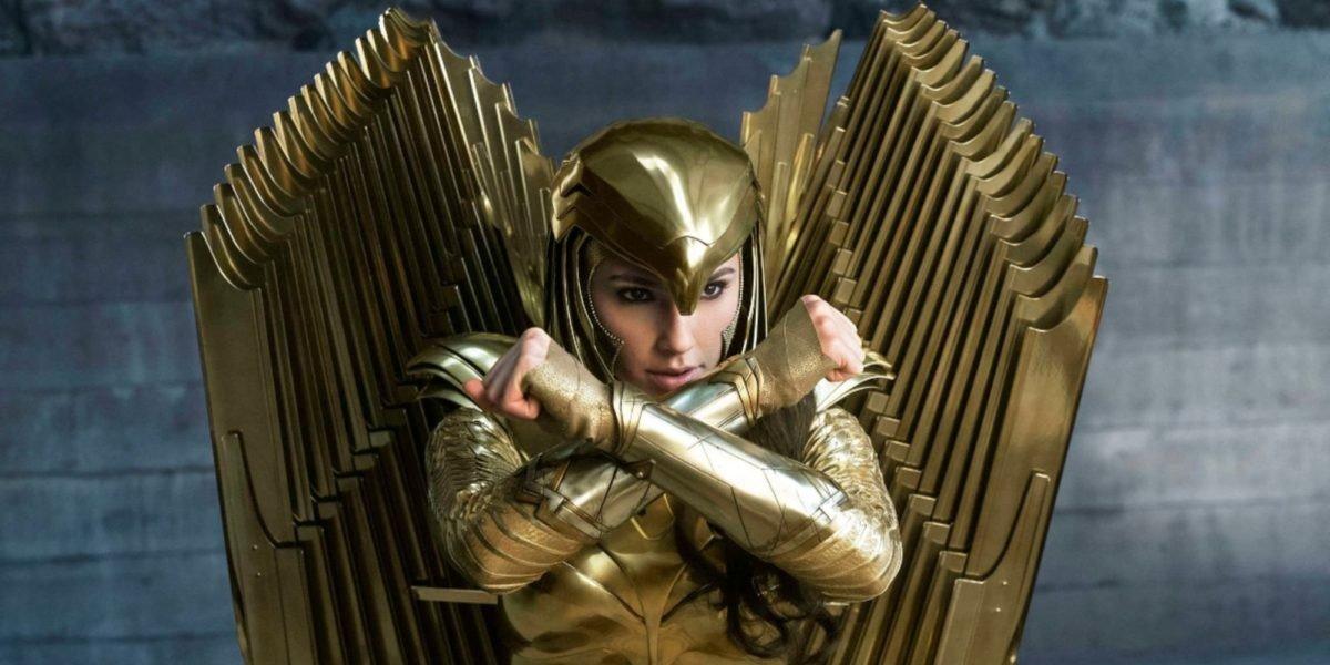 Wonder Woman stands in armor in 'Wonder Woman 1984'