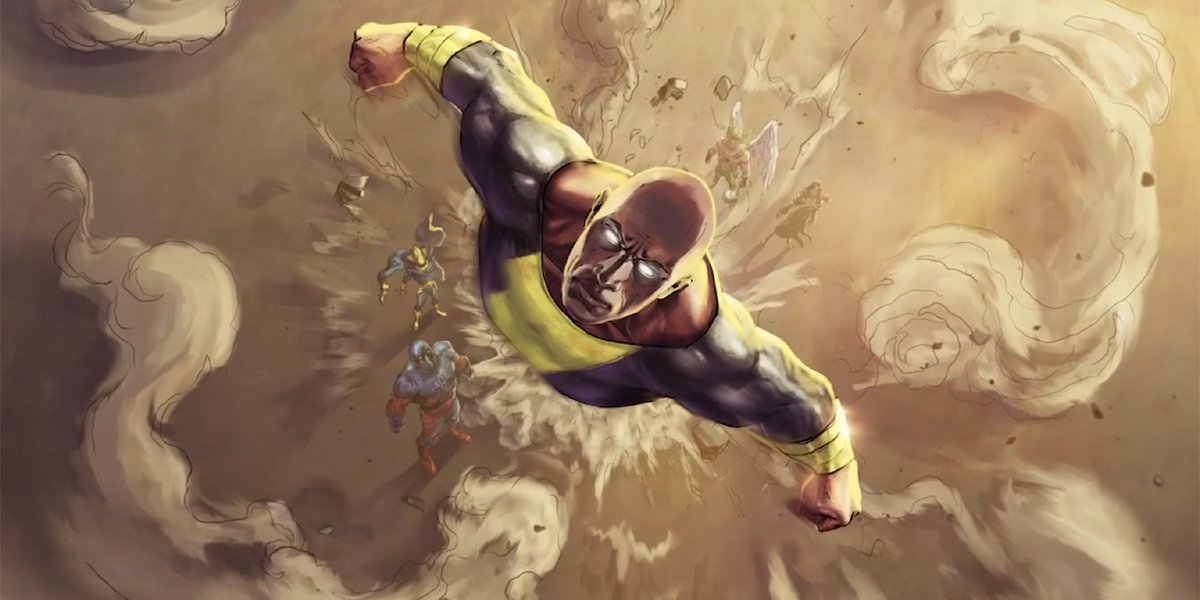 Black Adam Concept Art with Justice Society