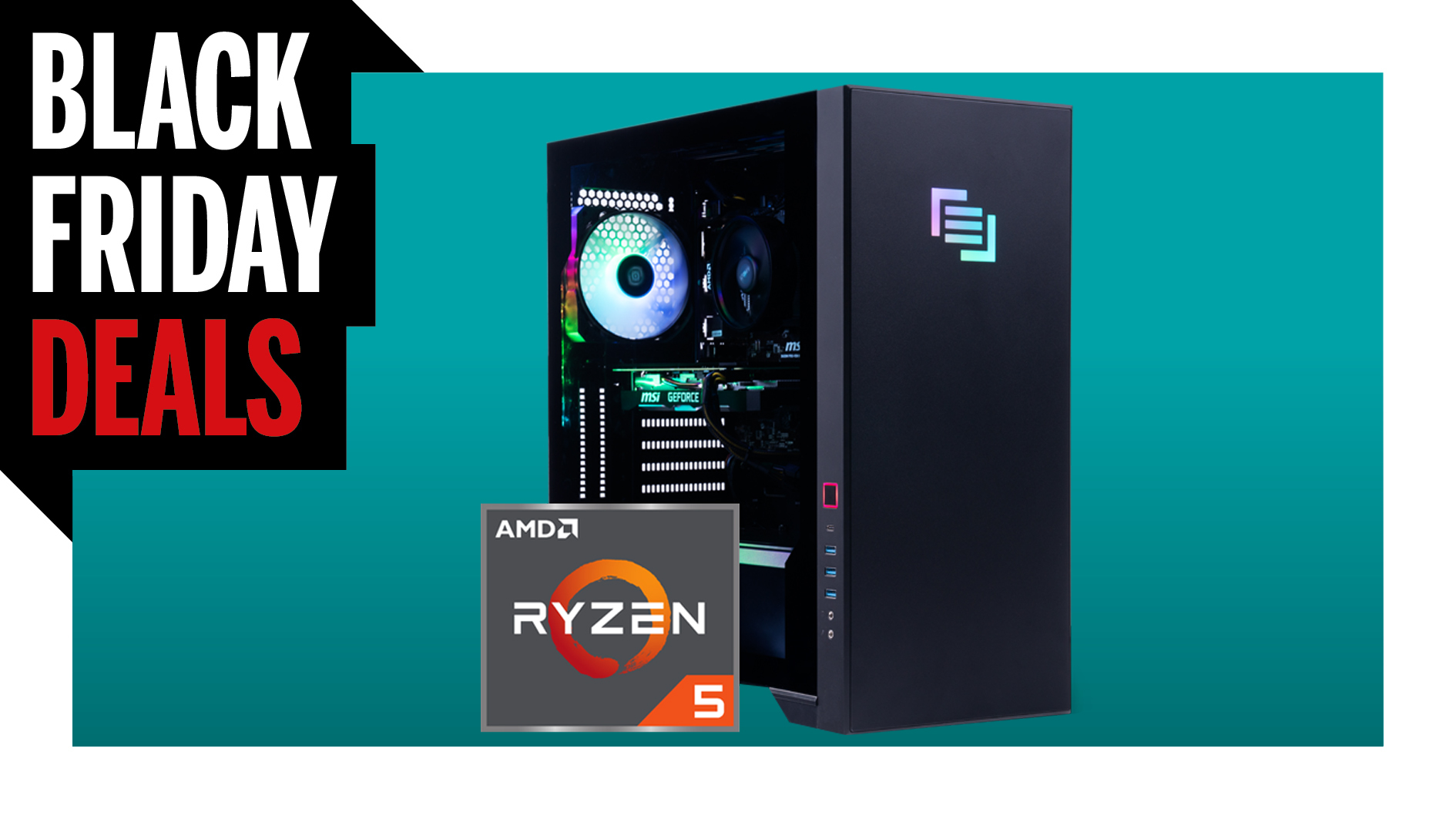 There's $300 off this Black Friday gaming PC with an RTX 3070 AND a Ryzen 5600X
