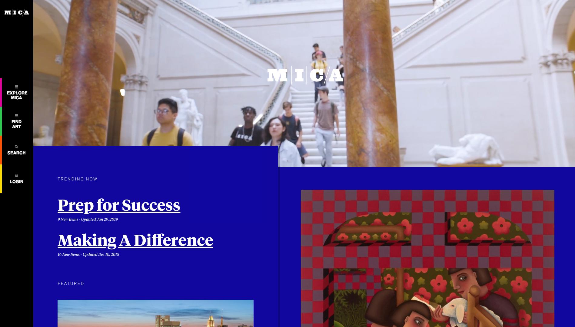 Mica homepage