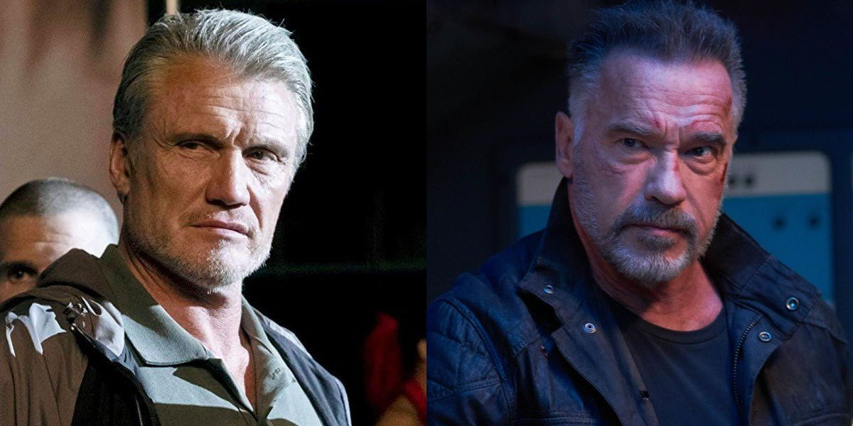 Dolph Lundgren and Arnold Schwarzenegger