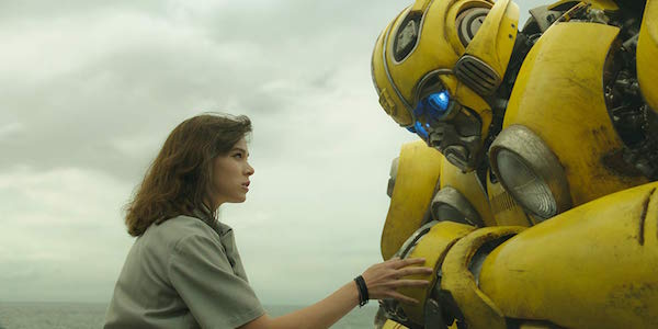 Hailee Steinfeld with Bumblebee