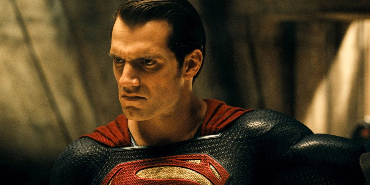 Superman looks angry in Batman v Superman: Dawn of Justice