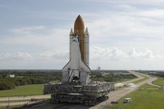 Space Shuttle Atlantis Moves to Launch Pad