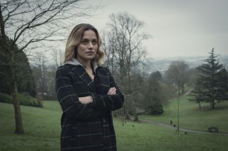 Zoë Tapper as resolute detective Kate Saunders in Netflix drama series The One.