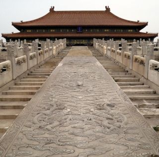 hall of supreme harmony in the forbidden city in beijing, china.