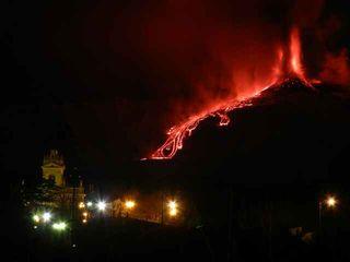 Etna's dramatic eruption on Feb. 9, 2012. Etna's dramatic eruption on Feb. 9, 2012. Etna's dramatic eruption on Feb. 9, 2012.