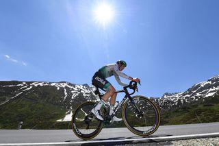 Jordi Meeus (Bora-Hansgrohe) in action in the Tour de Suisse TT