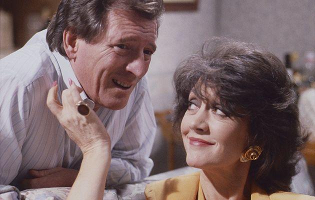 Mike Baldwin in Coronation Street with Alma