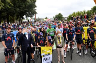 The Tour de France remembered Nicolas Portal at the start of stage 9 in Pau