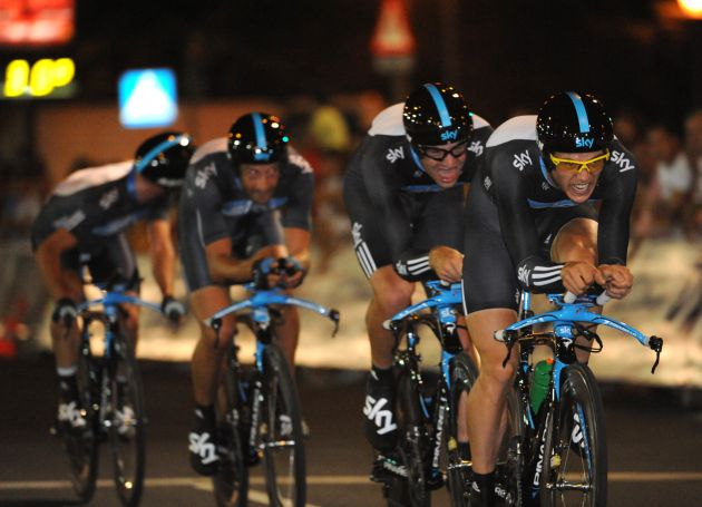 Team Sky, Vuelta a Espana 2010, stage one TTT