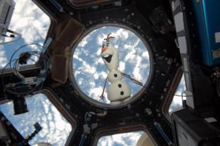 Olaf Doll on the International Space Station