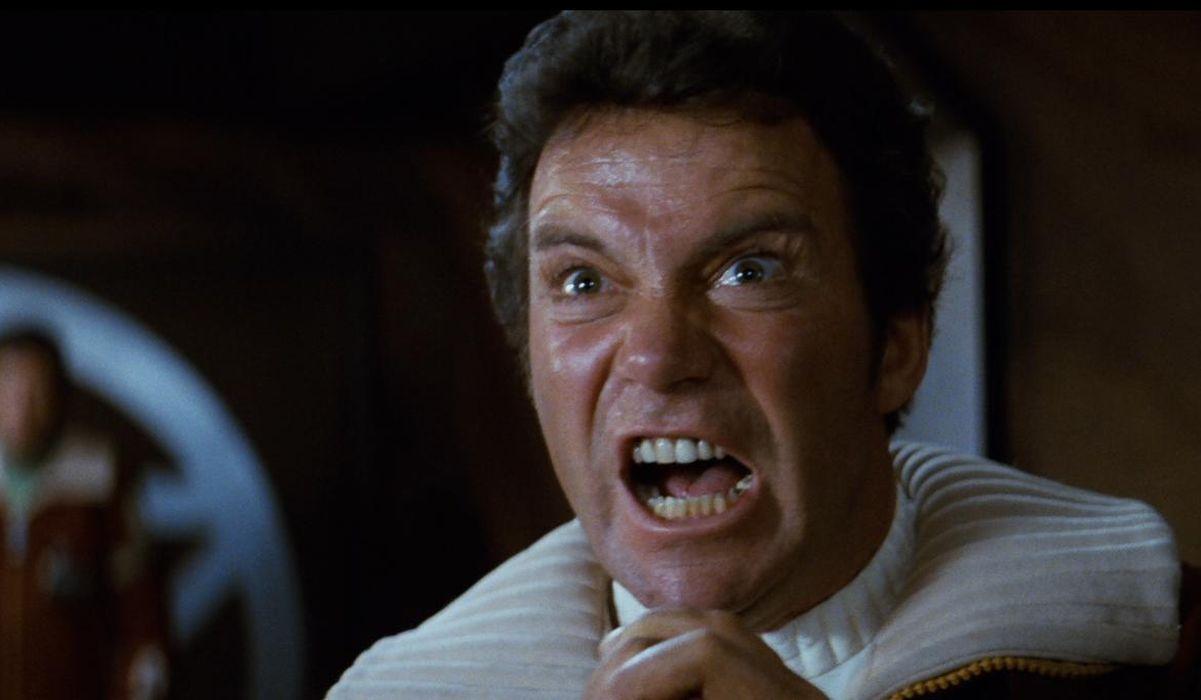 William Shatner in Star Trek II The Wrath of Khan