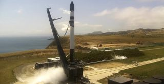 "Rocket Lab test fires the Electron rocket first stage for the ""Birds of a Feather"" launch of the NROL-151 satellite for the U.S. National Reconnaissance Office at Launch Complex 1 head of a January 2020 launch from Mahia Peninsula on New Zealand's North Island."