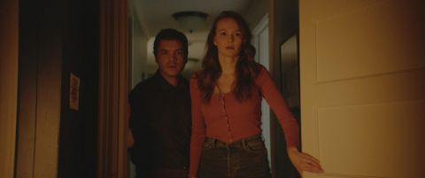 Andi Matichak and Emile Hirsch in 'Son.'
