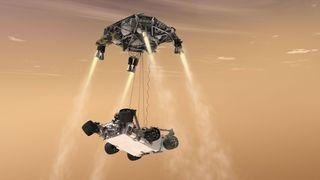 Mars 2020 sky crane
