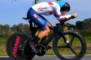 Dan Bigham rides the UCI Road World Championships mixed team relay