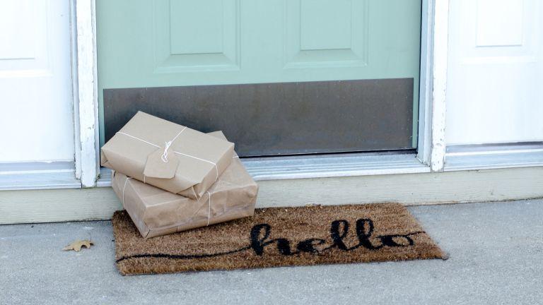 Presents left outside front door