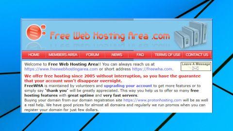 Free Web Hosting Area