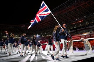Team GB at the Opening Ceremony in Tokyo