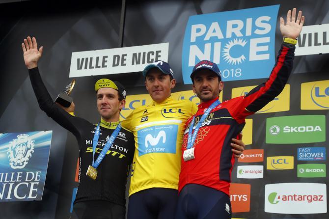 Simon Yates, Marc Soler and Gorka Izagirre on the final Paris-Nice podium