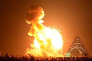 Antares Rocket Explosion 3