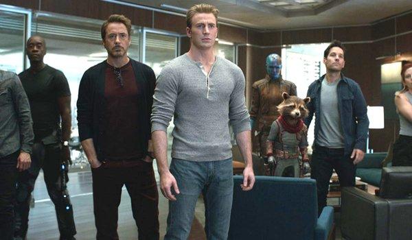 Avengers Endgame Tony Stark Steve Rogers Scott Lang Rocket Rhodey