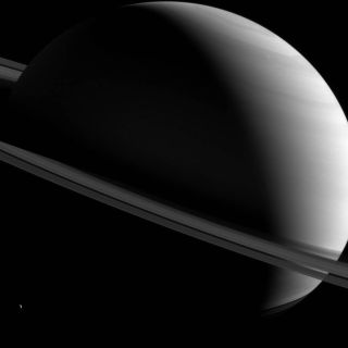 Saturn, Half-Lit and Tilted