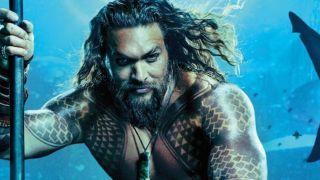 Jason Momoa underwater as Arthur Curry in Aquaman